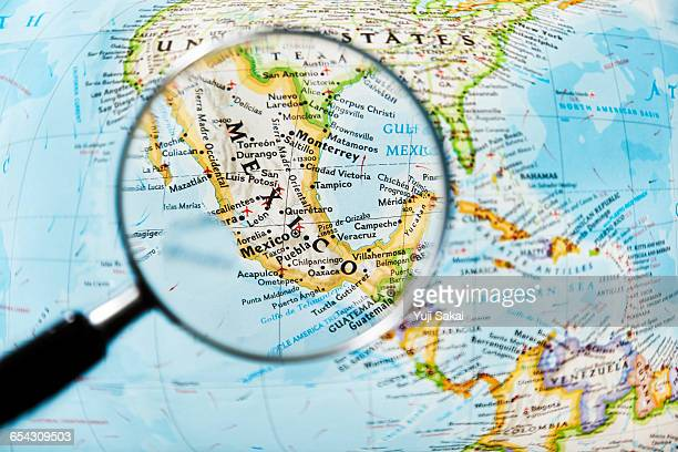 MEXICO and Magnifying glass