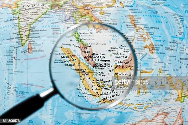 MALAYSIA,   SINGAPORE   and Magnifying glass
