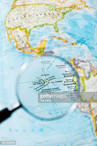 GALAPAGOS  ISLAND and Magnifying glass
