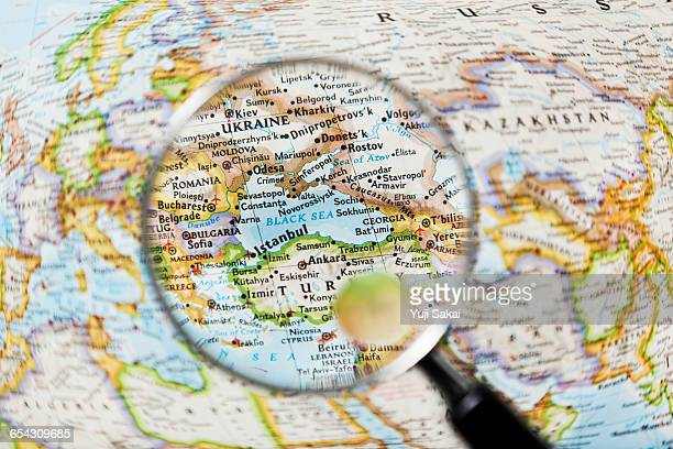 BLACK SEA and Magnifying glass