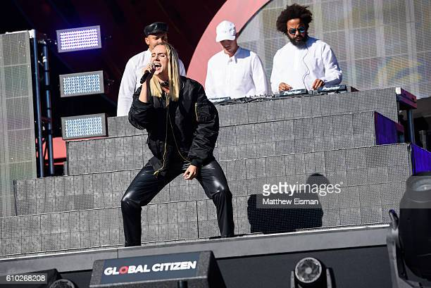 MO and Major Lazer perform live on stage during Global Citizen Festival 2016 at Central Park on September 24 2016 in New York City