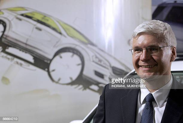 CEO and Managing Director DaimlerChrysler India Wilfried G Aulbur attends the launch a new MercedesBenz MClass in Mumbai 25 January 2006 India is...