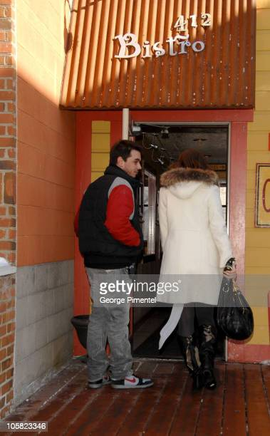 DJ AM and Mandy Moore during 2007 Park City Seen Around Town Day 4 in Park City Utah United States