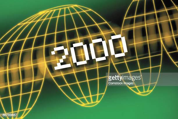 2000 and map grid - 西暦2000年 ストックフォトと画像