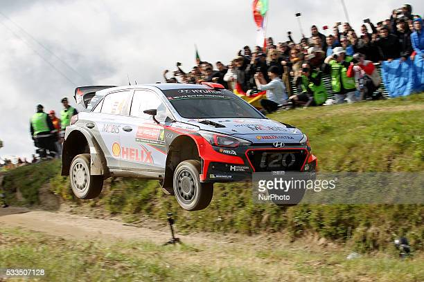 SORDO and MARC MARTI in HYUNDAI NEW GENERATION in action during the SS17 Fafe of the WRC Vodafone Rally Portugal 2016 in Matosinhos Portugal on May...