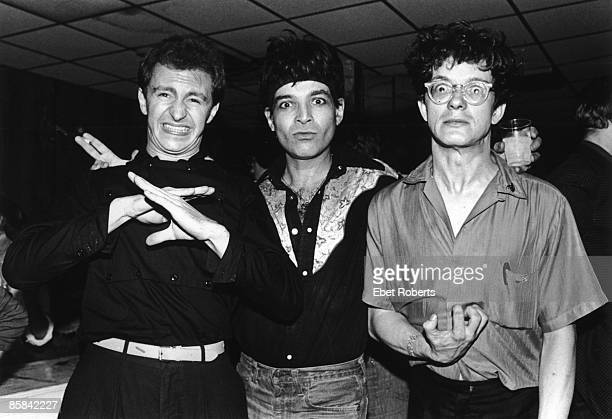 And Mark MOTHERSBAUGH and Gerald CASALE and Alan VEGA and SUICIDE; L-R Gerald Casale, Alan Vega and Mark Mothersbaugh