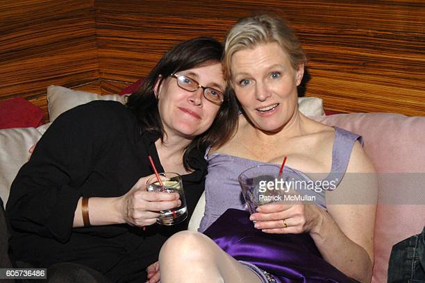 and Mary Harron attend INTERVIEW MAGAZINE afterparty for the NY Premiere of THE NOTORIOUS BETTIE PAGE at Bed on April 10 2006 in New York City