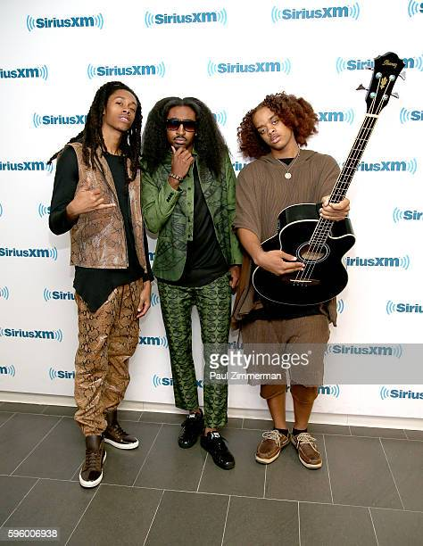 STRANGER DEEP and Medulla of band Swagu Style House visit the SiriusXM Studios on August 26 2016 in New York City