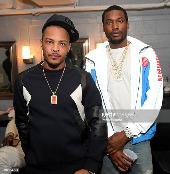 I and Meek Mill attend the TIDAL #CM9 Release Concert at Center Stage on December 23 2016 in Atlanta Georgia