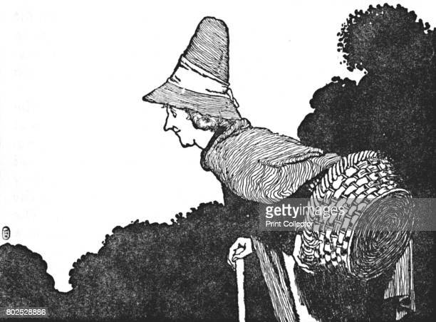 And Met an Old Woman with a Basket Full of Berries' c1930 An illustration from 'The Wild Swans' by Hans Christian Andersen From Hans Andersen's Fairy...