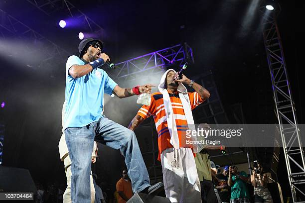 RZA and Method Man of the WuTang Clan performs during the 7th Annual Rock The Bells festival on Governors Island on August 28 2010 in New York City