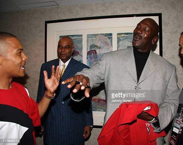 TI and Michael Jordan during 2006 Jordan AllAmerican Classic at Madison Square Garden in New York City New York United States