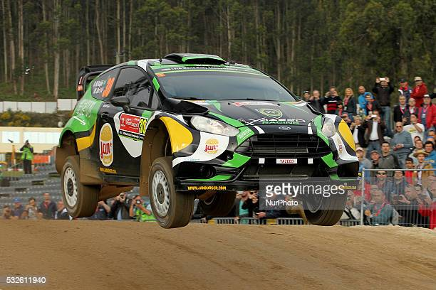 RAJHI and MICHAEL ORR in FORD FIESTA RS WRC of team YAZEED RACING in action during the shakedow of the WRC Vodafone Rally Portugal 2016 in Matosinhos...