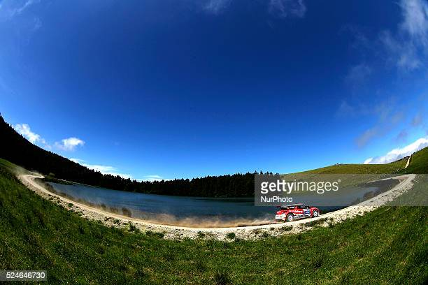 FONTES and MIGUEL RAMALHO in CITROEN DS3 R5 of DS3 VODAFONE TEAM during the SS15 Vila Franca S��o Br��s 2 FIA ERC Sata Rallye A��ores 2015 at Ponta...
