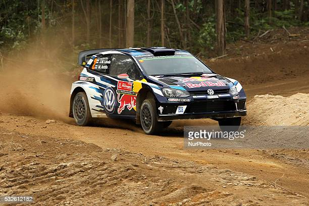 LATVALA and MIIKKA ANTTILA in VOLKSWAGEN POLO R WRC of team VOLKSWAGEN MOTORSPORT in action during the shakedow of the WRC Vodafone Rally Portugal...