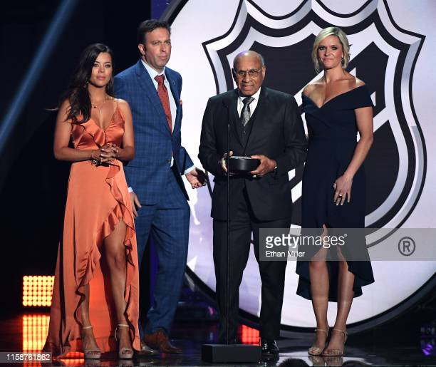 And MLB host Jackie Redmond, sportscaster Elliotte Friedman, Hockey Hall of Fame member Willie O'Ree and sportscaster Kathryn Tappen present the...