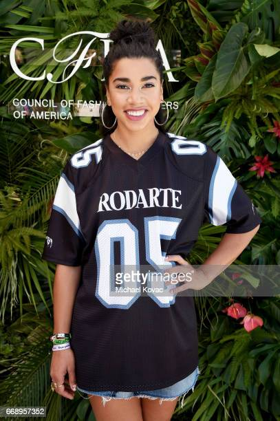 DJ and model Hannah Bronfman attends POPSUGAR and The Council of Fashion Designers of America's Brunch with Designers Emily Current and Meritt...