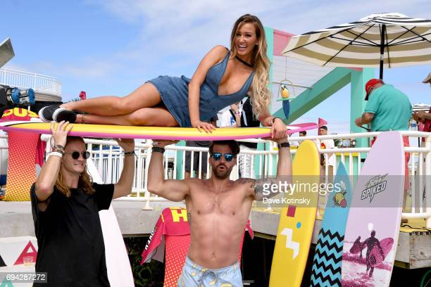 MTV and Mountain Dew Spiked Lemonade present The 2017 MTV Beach House with Rory Kramer Ashley Mitchell and Johnny Bananas at the Jersey Shore in New...