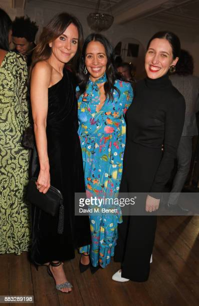 NETAPORTER and MR PORTER President Alison Loehnis Carmen Borgonovo and Emilia Wickstead attend a party hosted by NETAPORTER and MR PORTER to...