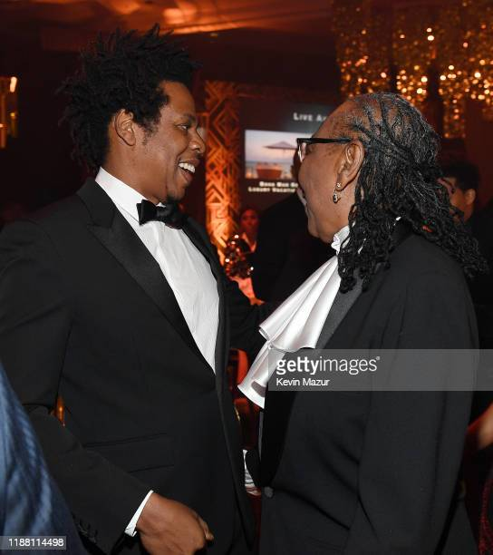 Z and Ms Gloria Carter attend the Shawn Carter Foundation Gala at Hard Rock Live in the Seminole Hard Rock Hotel Casino on November 16 2019 in...
