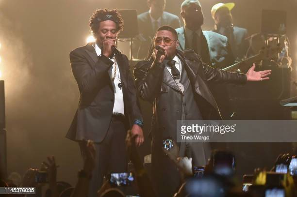 And Nas perform B-Sides 2 at Webster Hall on April 26, 2019 in New York City.