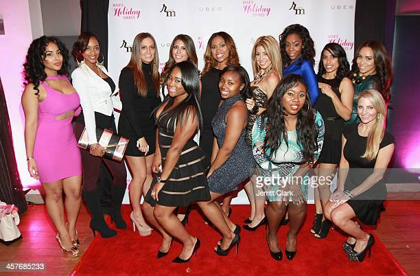 NBA and NFL Wives attend the NBA NFL Wives Holiday Cocktail Mixer at Pranna Restaurant on December 17 2013 in New York City