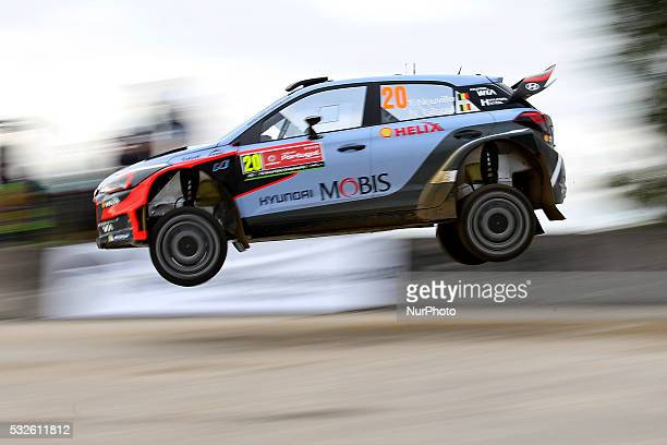 NEUVILLE and NICOLAS GILSOUL in HYUNDAI NEW GENERATION in action during the shakedow of the WRC Vodafone Rally Portugal 2016 in Matosinhos Portugal...