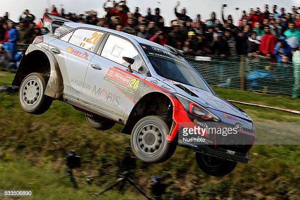 NEUVILLE and NICOLAS GILSOUL in HYUNDAI NEW GENERATION in action during the SS17 Fafe of the WRC Vodafone Rally Portugal 2016 in Matosinhos Portugal...