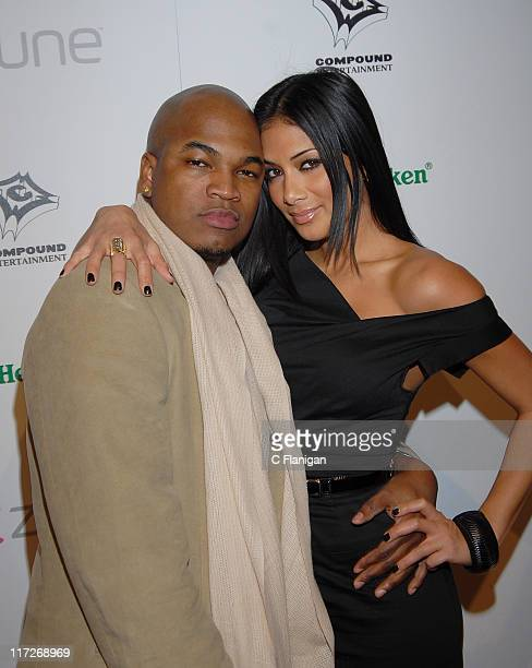 NEYO and Nicole Scherzinger attend the NEYO Compound Entertainment PreGrammy Party on February 9 2008 in Hollywood California