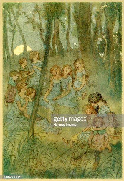 And nightly meadow fairies look you sing from The Merry Wives of Windsor by William Shakespeare pub 1910 1910 Artist Hugh Thomson