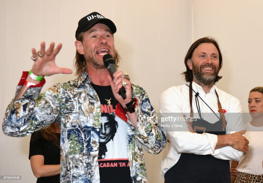 DJ BBQ and Niklas Ekstedt at the opening night of Taste of London (running 13th-16th June) at Regents Park on June 13, 2018 in London, England.
