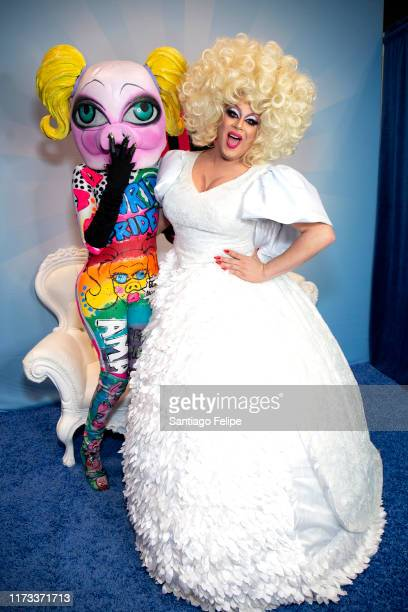 QWERRRK and Nina West attend RuPaul's DragCon 2019 at The Jacob K Javits Convention Center on September 08 2019 in New York City