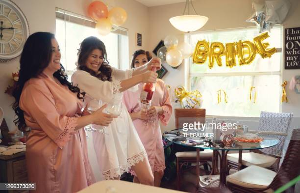 and now lets pop the bubbly - bridesmaid stock pictures, royalty-free photos & images