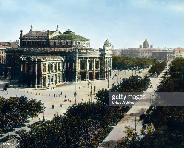 And now we are in Vienna and in front of the Burgtheater which boasts of being the first German stage It was founded in 1776 and until 1918 Imperial...