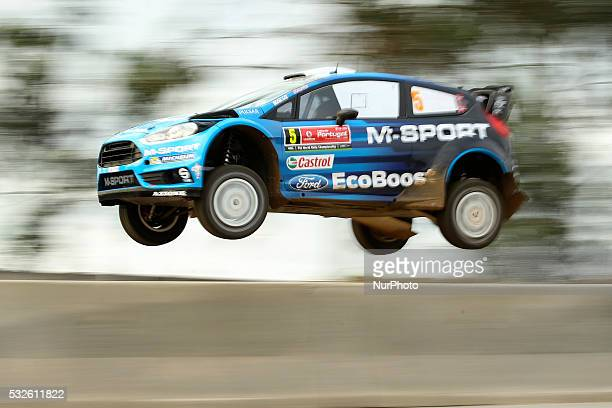 OSTBERG and OLA FLOENE in FORD FIESTA RS WRC of team MSPORT WORLD RALLY TEAM in action during the shakedow of the WRC Vodafone Rally Portugal 2016 in...