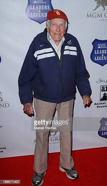 And Olympian Louis Zamperini attends the inaugural Tony LaRussa Leaders and Legends Gala benefiting Tony La Russa's Animal Rescue Foundation at MGM...