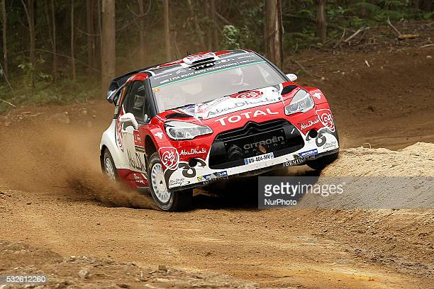 MEEKE and PAUL NAGLE in CITROEN DS3 WRC of team ABU DHABI TOTAL WORLD RALLY TEAM in action during the shakedow of the WRC Vodafone Rally Portugal...