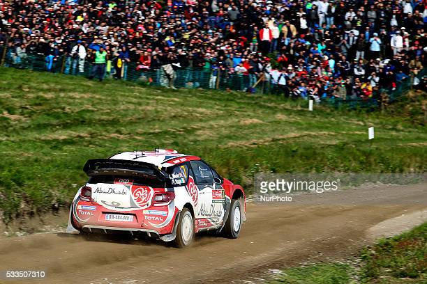 MEEKE and PAUL NAGLE in CITROEN DS3 WRC of team ABU DHABI TOTAL WORLD RALLY TEAM in action during the SS17 Fafe of the WRC Vodafone Rally Portugal...