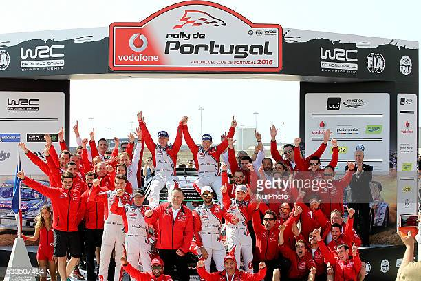 MEEKE and PAUL NAGLE in CITROEN DS3 WRC of team ABU DHABI TOTAL WORLD RALLY TEAM rally winners during the ceremony podium of the WRC Vodafone Rally...