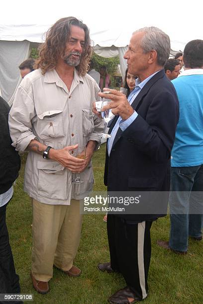 and Peter Beard attend Junko Yoshioka Presents Her Evening Wear Collection at Peter and Nejma Beard Residence on July 16 2005 in Montauk NY