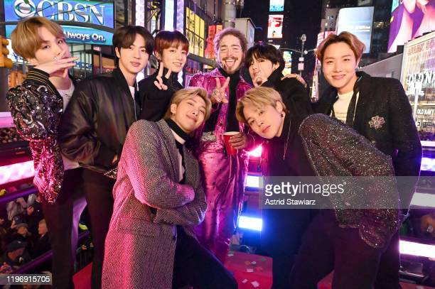 BTS and Post Malone attend Dick Clark's New Year's Rockin' Eve With Ryan Seacrest 2020 on December 31 2019 in New York City