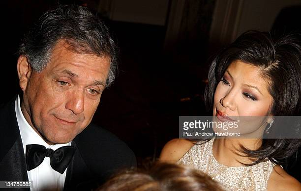 CBS CEO and President Les Moonves and Julie Chen during International Radio and Television Society Foundation 2004 Gold Medal Dinner at Waldorf...