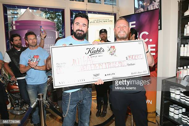CEO and president of Kiehl's Chris Salgardo and CEO of amfAR Kevin Robert Frost attend the 7th Annual LifeRide for amfAR at Kiehl's Since 1851...