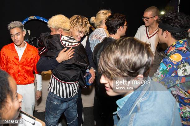 CNCO and PRETTYMUCH attends Backstage Creations Celebrity Retreat At Teen Choice 2018 Day 2 at The Forum on August 12 2018 in Inglewood California