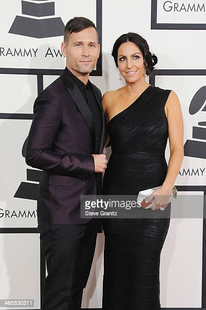 DJ and Producer Kaskade and wife Naomi Raddon attend the 56th GRAMMY Awards at Staples Center on January 26 2014 in Los Angeles California