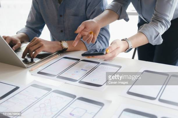 ux ui and programming development technology. - web page stock pictures, royalty-free photos & images