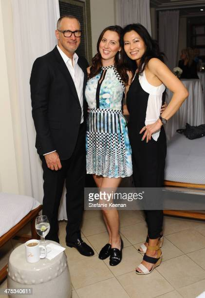 VP and Publisher of Vanity Fair Edward Menicheschi actress Eva Amurri and Vanity Fair Beauty Director SunHee Grinnell attend the beauty luncheon and...