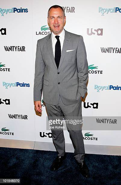 VP and Publisher of Vanity Fair Edward Menicheschi arrives at the USA Network and Vanity Fair 'Royal Pains' Season Two kick off event at Lacoste...
