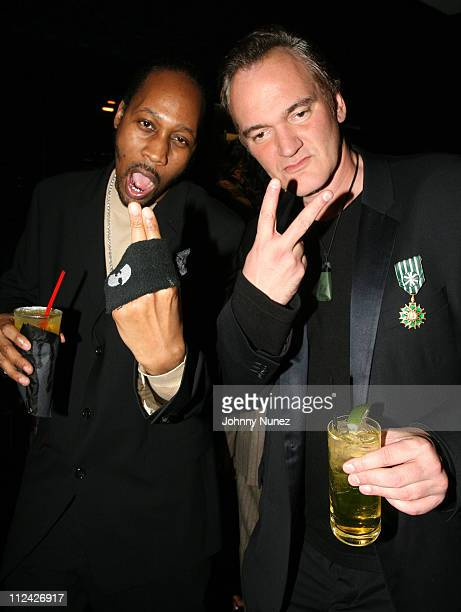 RZA and Quentin Tarantino during XM Satellite Radio Salutes Ludacris at Post Grammy Party Hosted by Queen Latifah Inside at Social in Hollywood...