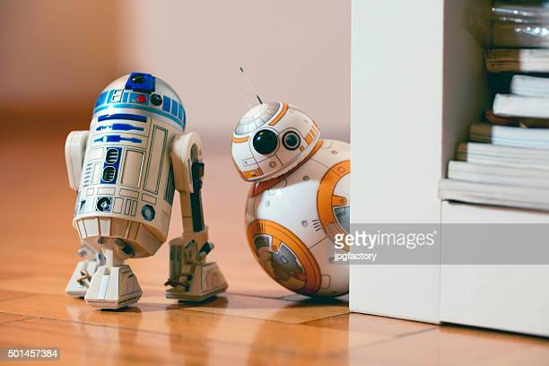 bb-8 and r2d2 - star wars stock pictures, royalty-free photos & images